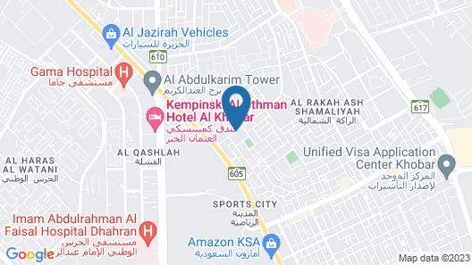 Carlton Al Moaibed Hotel Map
