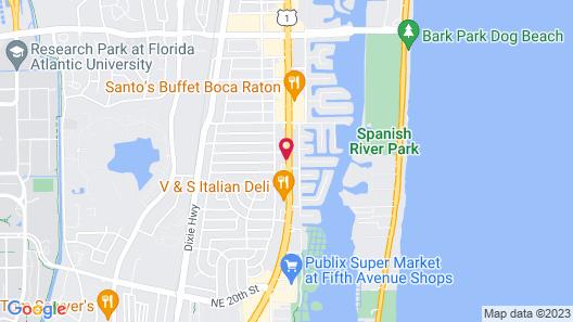 Quality Inn Boca Raton University Area Map