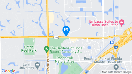 Hampton Inn Boca Raton Map