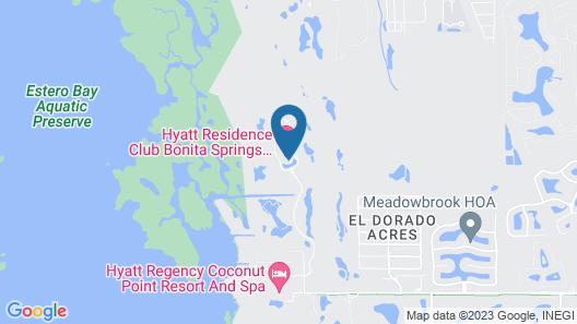 Hyatt Residence Club Bonita Springs, Coconut Plantation Map