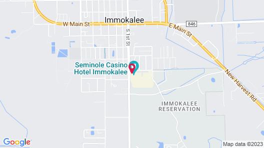 Seminole Casino Hotel Immokalee Map