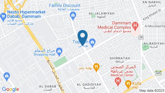 Al Eairy Furnished Apartments Dammam 4 Map