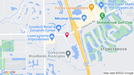 Hampton Inn & Suites Fort Myers-Estero/FGCU, FL Map