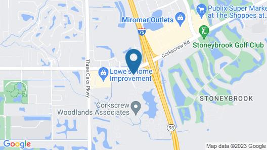 Hampton Inn & Suites Fort Myers-Estero/FGCU, FL Map