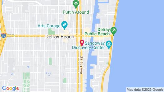 Courtyard by Marriott Delray Beach Map