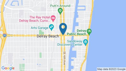 Colony Hotel & Cabaña Club Map