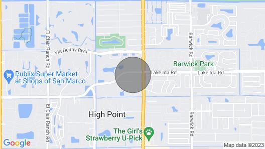 Updated and Modern 2 Bd/2 ba Villa in Warm SE Florida Near the Ocean Map