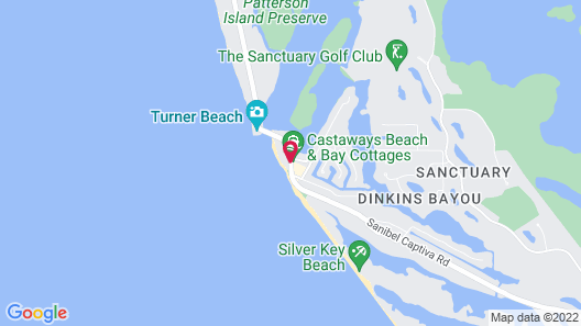 Castaways Beach and Bay Cottages Map
