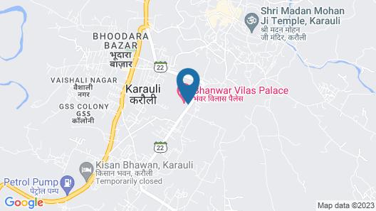 Bhanwar Vilas Palace Map