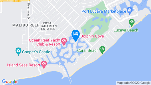 Dolphin Cove - Adults only. Map