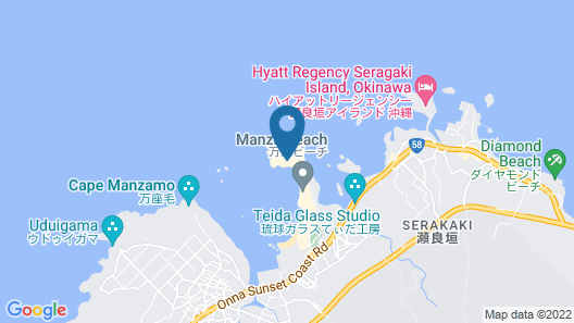 ANA InterContinental Manza Beach Resort Map