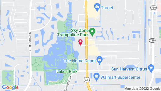 InTown Suites Extended Stay Fort Myers Map