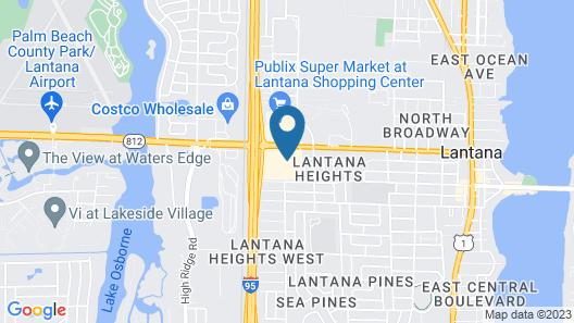 Motel 6 Lantana, FL Map