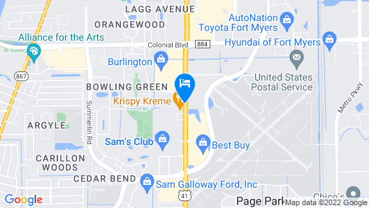 La Quinta Inn by Wyndham Fort Myers Central Map