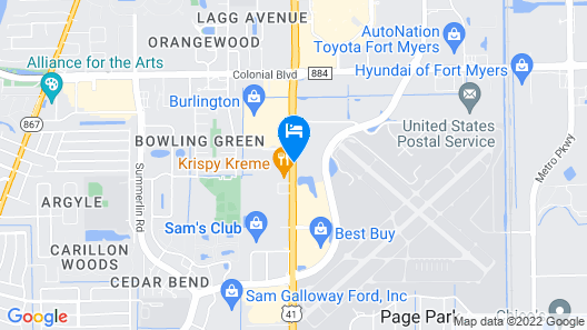 Howard Johnson by Wyndham Ft. Myers FL Map