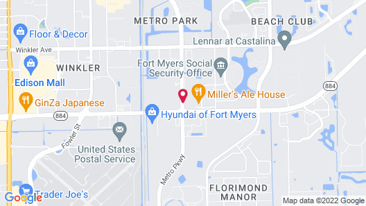 Courtyard by Marriott Fort Myers Cape Coral Map