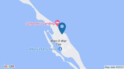 Blue Sargasso Cottage, Man O War 3br/3ba Map