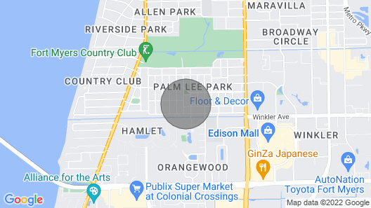A Private Hideout in the City of Palms Map