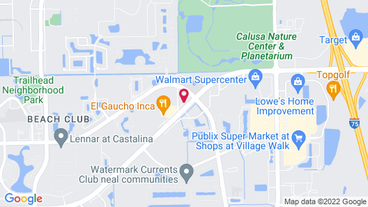 WoodSpring Suites Fort Myers Southeast Map