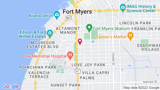 Holiday Inn Fort Myers - Downtown Area, an IHG Hotel Map