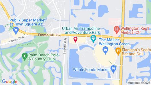 Hampton Inn & Suites Wellington Map