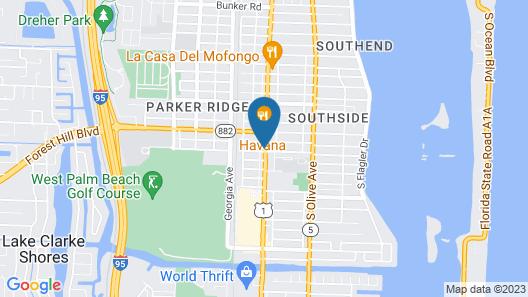 Economy Inn West Palm Beach Map