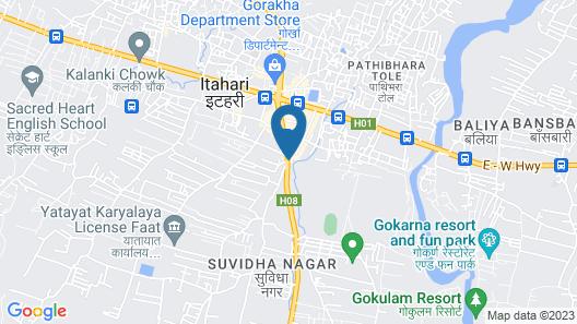 OYO 778 Hotel Pathibhara International Map