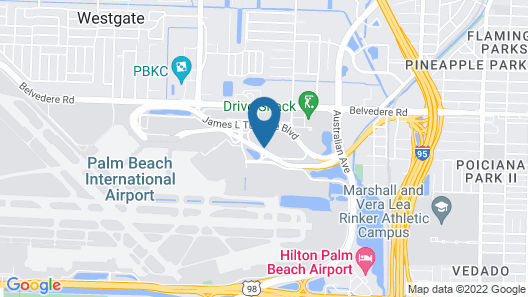 Home2 Suites by Hilton West Palm Beach Airport, FL Map
