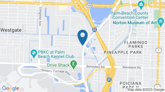 Hampton Inn by Hilton West Palm Beach Central Airport Map