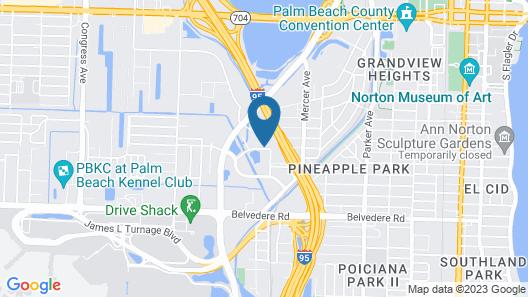 Studio 6 West Palm Beach, FL Map