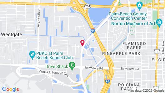 Hilton Garden Inn West Palm Beach Airport Map