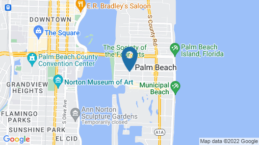 The Chesterfield Palm Beach Map