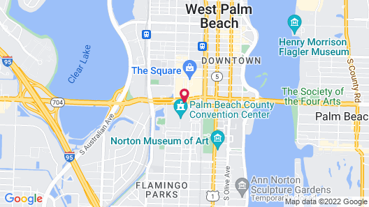 Hilton West Palm Beach Map