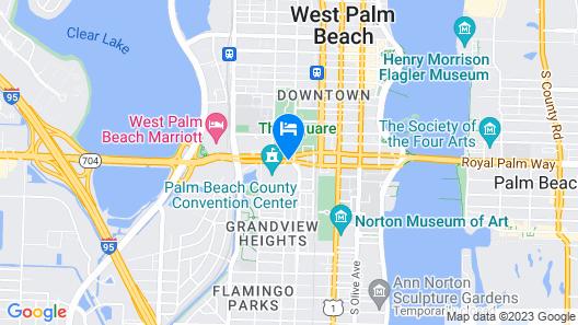 Hilton West Palm Beach Map