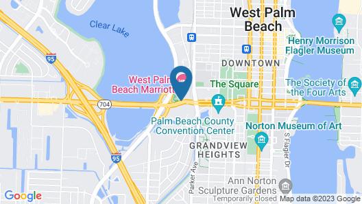 West Palm Beach Marriott Map