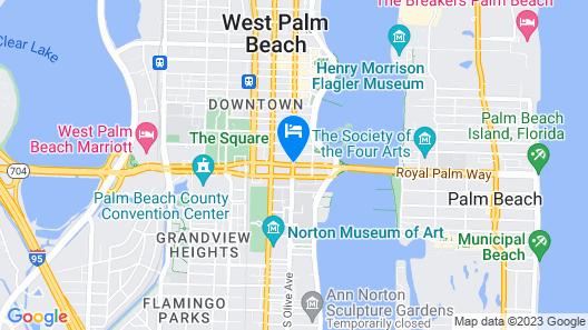 Hyatt Place West Palm Beach/Downtown Map