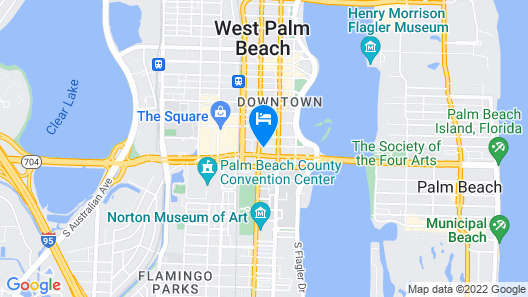 Canopy by Hilton West Palm Beach Downtown Map