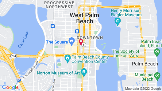 Residence Inn by Marriott West Palm Beach Downtown/Rosemary Square Area Map