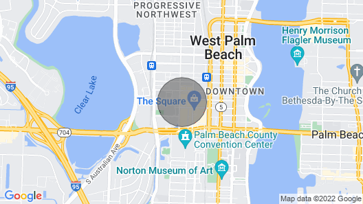 Tropical Getaway in the Heart of Rosemary Square (CityPlace) Map