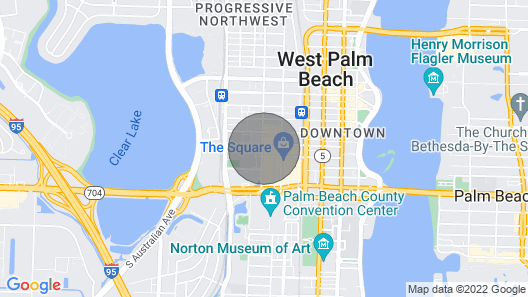 Ultimate Island Paradise in West Palm Beach 2/2 condo Map