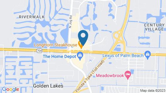 Hampton Inn West Palm Beach Florida Turnpike Map