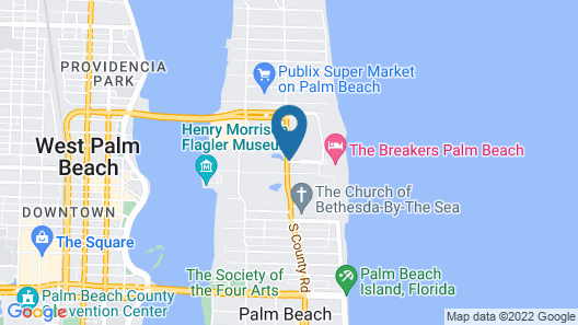The Breakers Palm Beach Map