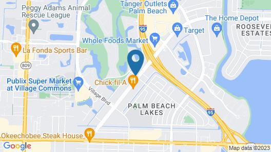 Ramada by Wyndham West Palm Beach Airport Map