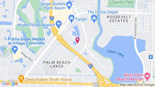 Hawthorn Suites by Wyndham West Palm Beach Map