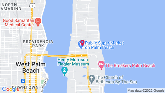 Designer Decorated Palm Beach Hotel NEW Map