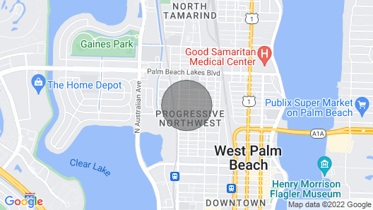 Cozy 2 Bedroom in Heart of West Palm Beach Map