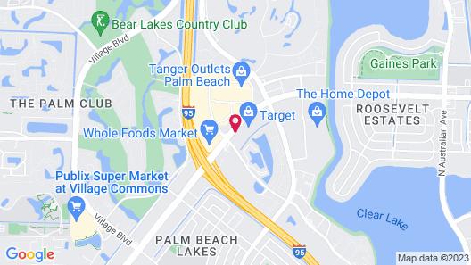 Best Western Palm Beach Lakes Map