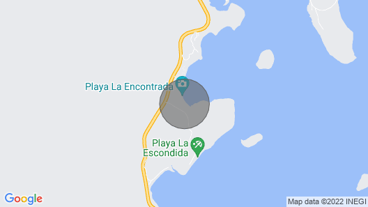 Fly/in Beach Front Paradise on Playa El Coyote, Concepcion Bay, Loreto/mulege Map