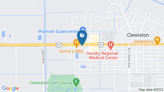 Best Western Of Clewiston Map