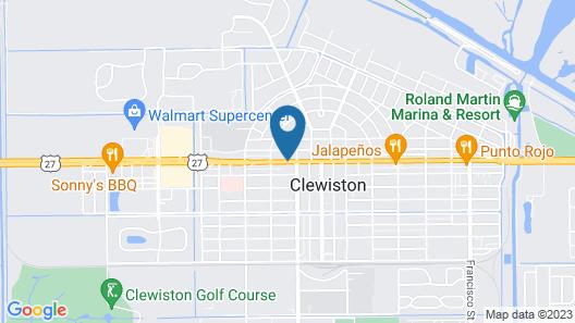 Executive Royal Inn Clewiston Map